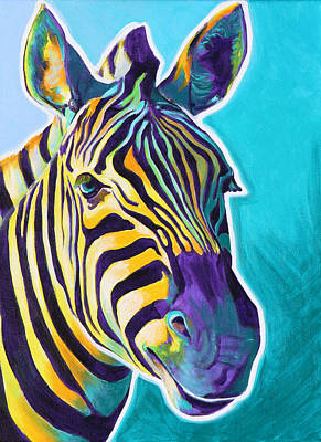 Dawgart Painting - Zebra - Sunrise by Alicia VanNoy Call