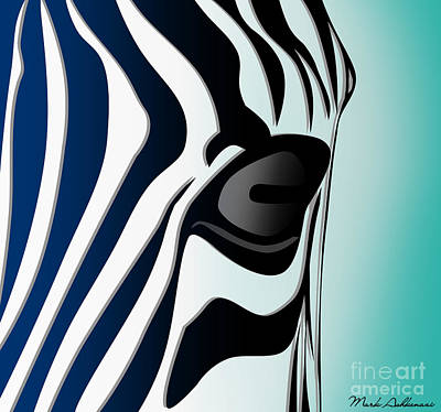 Zebra Digital Art - Zebra 2 by Mark Ashkenazi