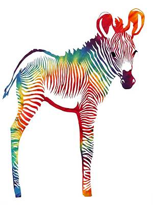Baby Animals Digital Art - Zebra 3 by Cindy Edwards