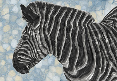 Painter Digital Art - Zebra 6 by Jack Zulli