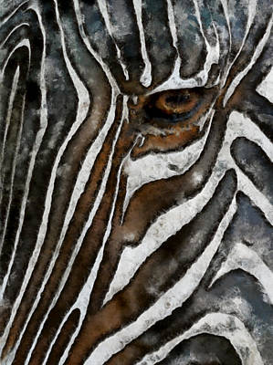 Digital Art - Zebra Abstract by Ernie Echols