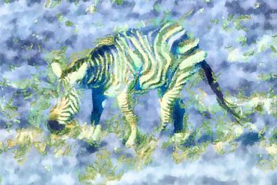 Zebra Mixed Media - Zebra Abstracted by Priya Ghose