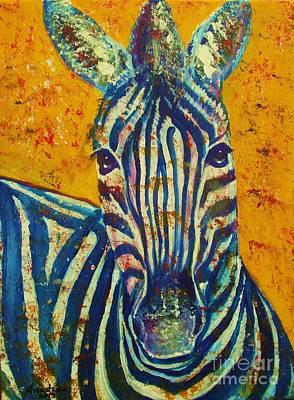 Painting - Zebra by Anastasis  Anastasi