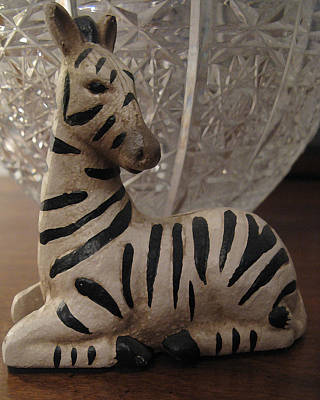 Photograph - Zebra And Crystal Vase by Patricia Januszkiewicz
