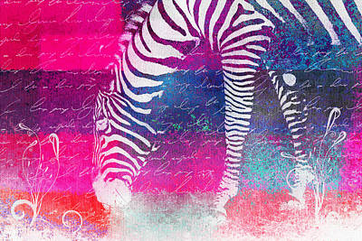 Digital Art - Zebra Art - 210bt by Variance Collections