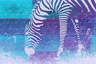 Digital Art - Zebra Art - Bp02t01 by Variance Collections
