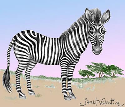 Zebra At Sunset Original