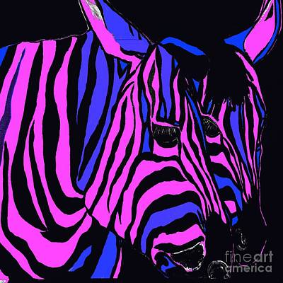 Painting - Zebra Couple Abstract by Saundra Myles