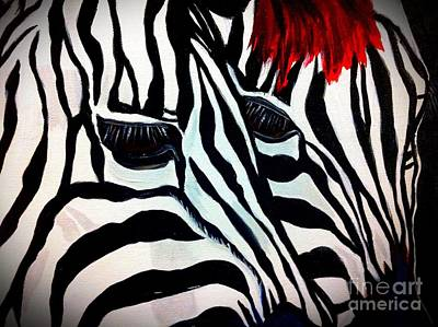 Painting - Zebra Couple by Saundra Myles