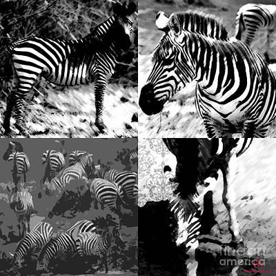 Zebra Dama #black And White Original