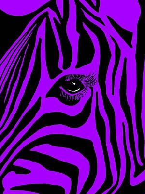 Zebra Digital Art - Zebra Eye by Cindy Edwards