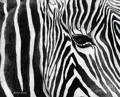 Painting - Zebra Eye by Hailey E Herrera