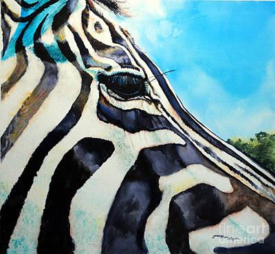 Zebra Eye Art Print by Tracy Rose Moyers