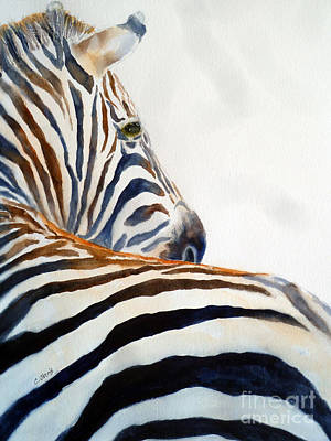 Painting - Zebra Face by Carolyn Jarvis