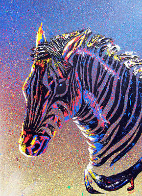 Zebra Fantasy Art Print by Mayhem Mediums
