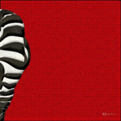 Zebra Furry Bottom On Red Original