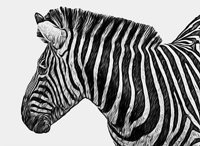 Zebra Patterns Painting - Zebra - Happened At The Zoo by Jack Zulli