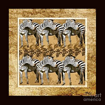 Painting - Zebra Herd #2 by Saundra Myles
