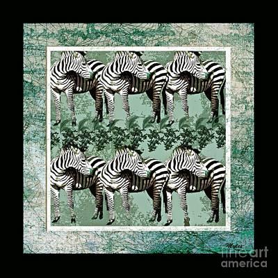 Painting - Zebra Herd by Saundra Myles