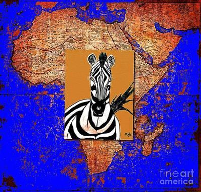 Painting - Zebra Homeland  by Saundra Myles