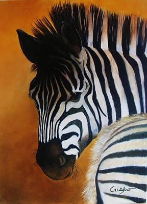 Zebra Art Print by Jean Yves Crispo