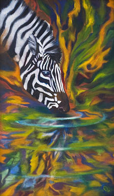 Metaphysical Painting - Zebra by Kd Neeley