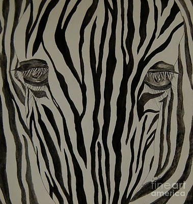Painting - Zebra Lines by Tamyra Crossley