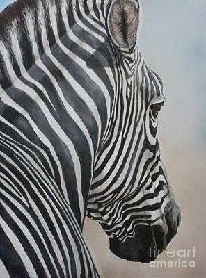 Zebra Look Art Print by Charlotte Yealey