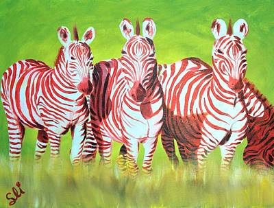 Painting - Zebra Love Of Afreeka by Sean Ivy aka Afro Art Ivy