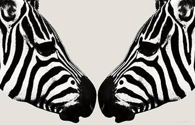 Zebra Love Art Print