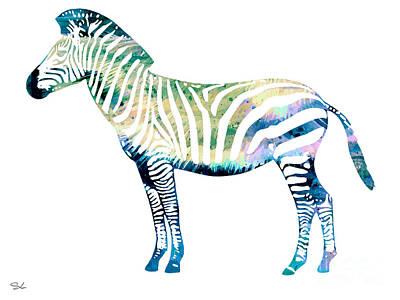 Zebra Painting - Zebra  by Watercolor Girl