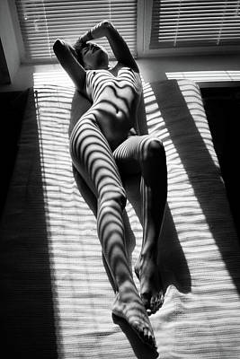 Nude Portraits Photograph - Zebra by Mikhail Faletkin