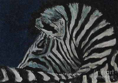 Painting - Zebra by Patries Van Dokkum