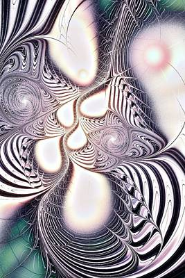 Digital Art - Zebra Phantasm by Anastasiya Malakhova