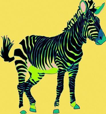 Painting - Zebra Pop Art by Florian Rodarte