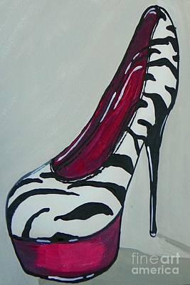 Painting - Zebra Pumps by Marisela Mungia