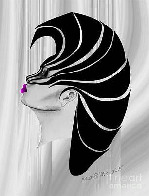 Digital Art - Zebra Punk by Marianne NANA Betts