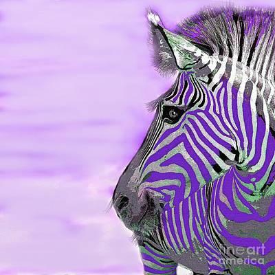 Painting - Zebra Purple Mist by Saundra Myles