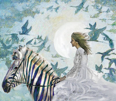 Digital Art - Zebra Quest by Jane Schnetlage