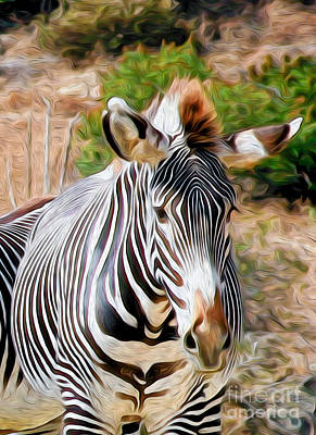 Digital Art - Zebra Rendition I by Kenneth Montgomery