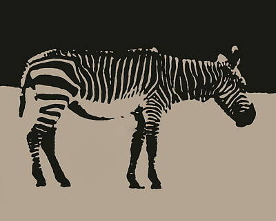 Photograph - Zebra Silhouette by Ramona Johnston