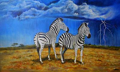 Lightning Digital Art - Zebra Storm by Michael Durst