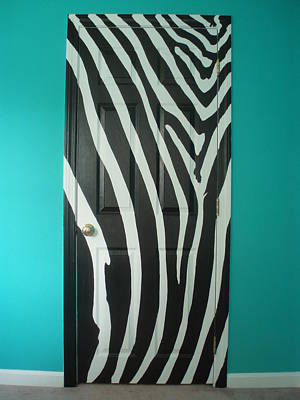 Painting - Zebra Stripe Mural - Door Number 1 by Sean Connolly