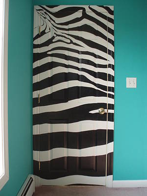 Painting - Zebra Stripe Mural - Door Number 2 by Sean Connolly