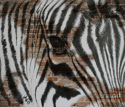Drawing - Zebra Wall by Michelle Wolff