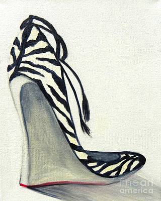 Painting - Zebra Wedges by Shelia Kempf
