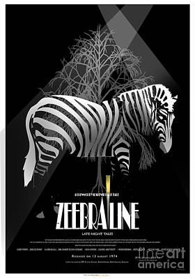 Zebraline Movie Poster Classic A Tribute To Ageth  Art Print by Weiler WEILER