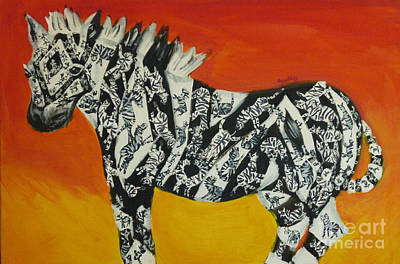 Zebras In Stripes Art Print by Cassandra Buckley