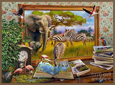 Kingfisher Wall Art - Digital Art - Zebras by Jan Patrik Krasny