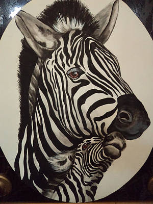 Painting - Zebras by Patricia Rachidi